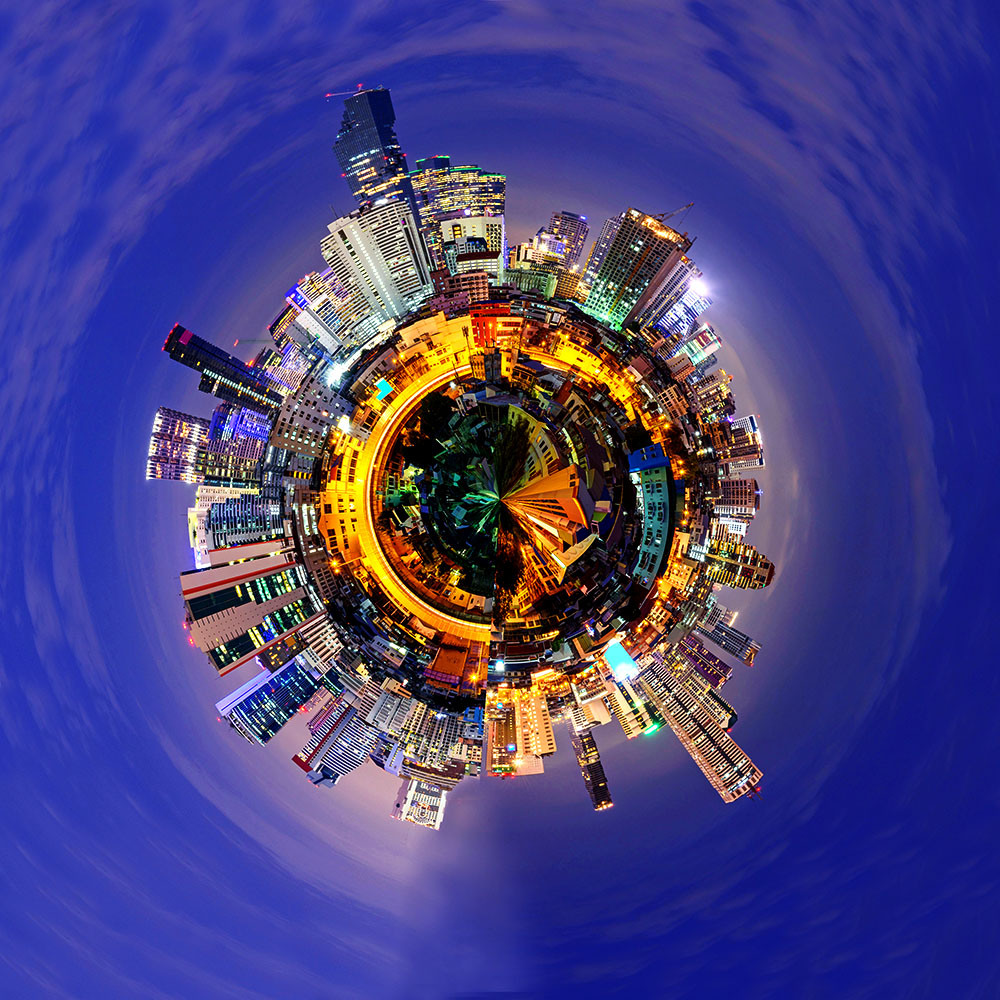circle panorama of city / 360 panorama of city