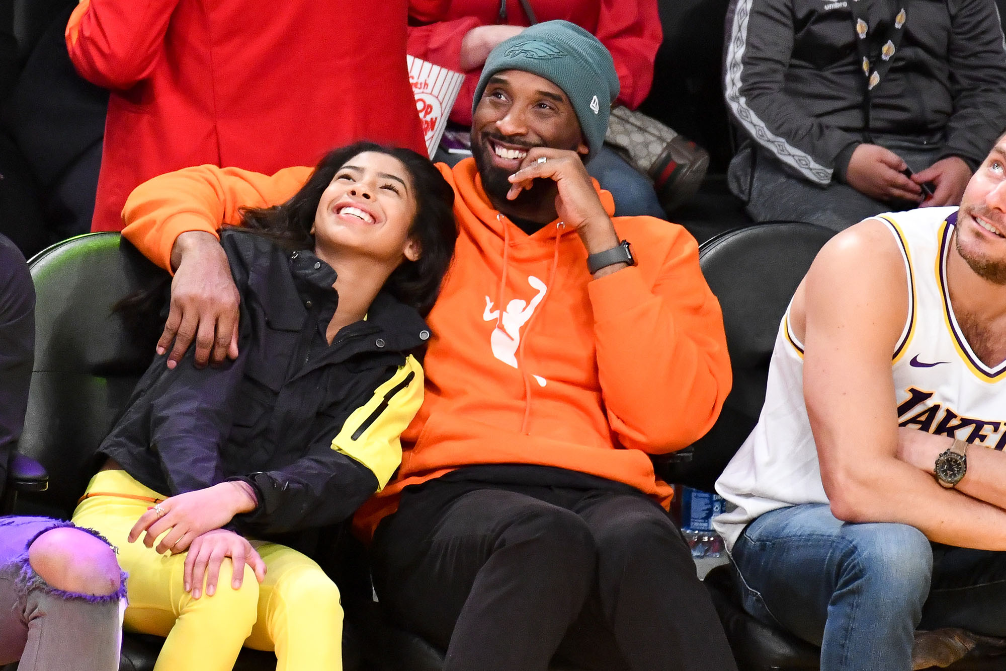 Kobe and Gigi Bryant Courtside