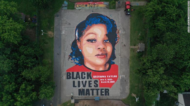 Breonna Taylor Honored In Maryland With Massive Ground Mural